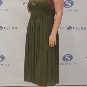 Smocking Strapless Dress