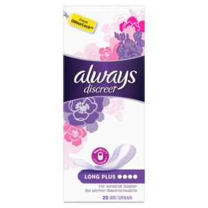 ALWAYS DISCREET LINERS LONG PLUS BY 20 (NEW)
