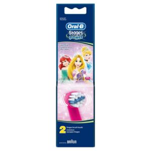 ORAL B POWER BRUSH HEAD STAGES KIDS x2s (GIRLS)