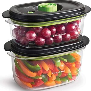 FOODSAVER PRESERVE & MARINATE VACUUM CONTAINER 2 PACK (0.7L + 1.2L) (NEW)