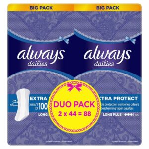 ALWAYS LINERS LONG PLUS VALUE PACK BY 88 (NEW)
