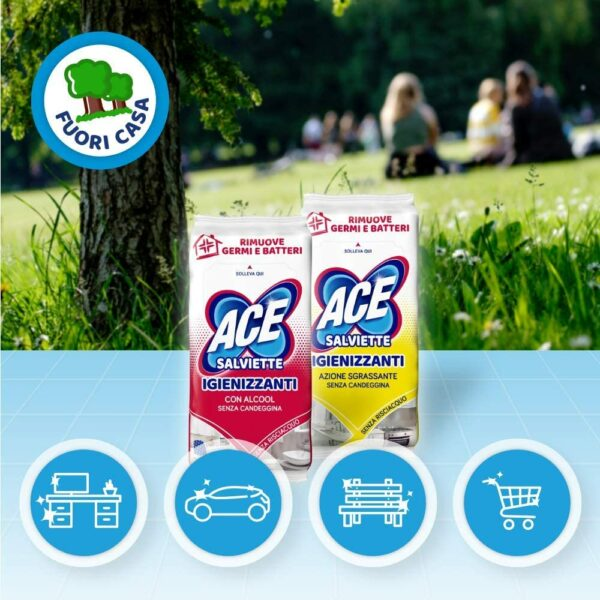 ACE WIPES HYGIENIC WITH ALCOHOL X40 (NEW)