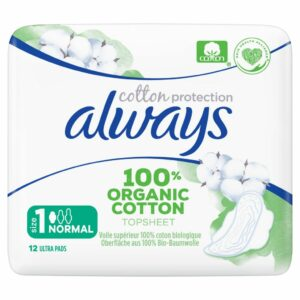 ALWAYS ORGANIC COTTON PADS NORMAL BY 12 (NEW)