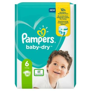PAMPERS CARRY PACK BABYDRY SIZE 6 (By 20 nappies) (NEW)