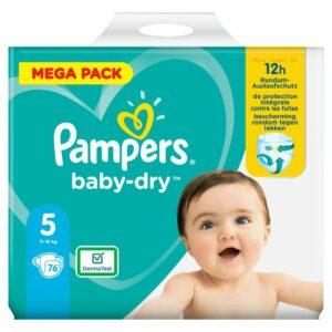 PAMPERS MEGA PACK BD 5 JUNIOR x76 (NEW)
