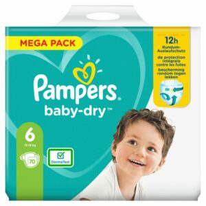 PAMPERS MEGA PACK BD 6 EXTRA LARGE x70 (NEW)
