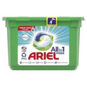 ARIEL PODS WITH FEBREZE, 15 WASHES (25.2GR)