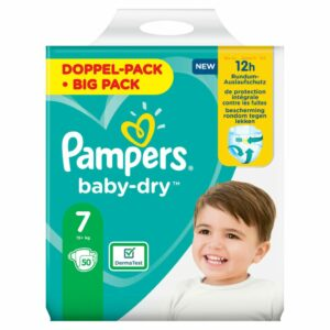 PAMPERS JUMBO PACK BABYDRY SIZE 7 (By 50 nappies) (NEW)