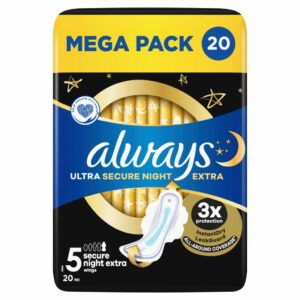 ALWAYS ULTRA EXTRA SECURE NIGHT VALUE PACK BY 20 (NEW)