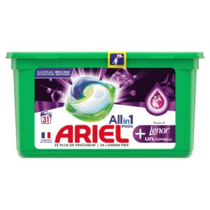 ARIEL PODS + TOUCH OF LENOR, 31 WASHES (25.1GR) (NEW)