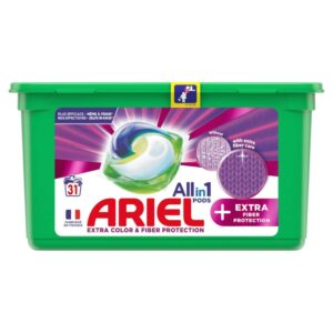 ARIEL PODS+ FIBRE PROTECT, 31 WASHES (25.2GR) (NEW)