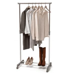 DOMOPAK SINGLE GARMENT CLOTHES RAIL WITH SHOE RACK 75x42x90-160cm