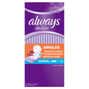ALWAYS LINERS SINGLES NORMAL BY 20