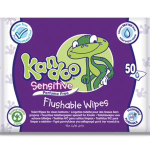 KANDOO TOILET FLUSHABLE WIPES SENSITIVE (By 50 wipes)
