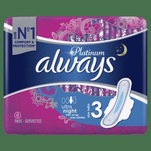 ALWAYS PLATINUM ULTRA NIGHT PLUS BY 8 (NEW)