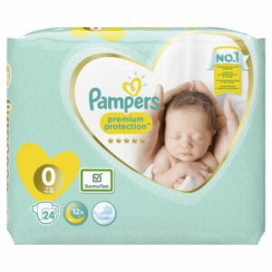 PAMPERS CARRY PACK NEW BABY SIZE 0 MICRO (By 24 nappies)