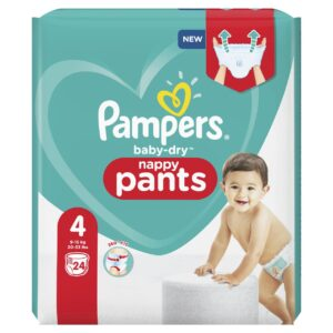 PAMPERS CARRY PACK BABYDRY PANTS SIZE 4 (By 24 nappies) (NEW)