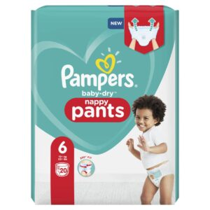 PAMPERS CARRY PACK BABYDRY PANTS SIZE 6 (By 20 nappies) (NEW)