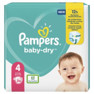 PAMPERS CARRY PACK BABYDRY SIZE 4 (By 26 nappies) (NEW)