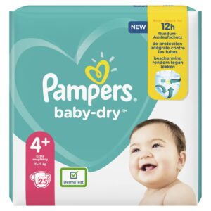 PAMPERS CARRY PACK BABYDRY SIZE 4+ (By 25 nappies) (NEW)