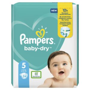 PAMPERS CARRY PACK BABYDRY SIZE 5 (By 24 nappies) (NEW)
