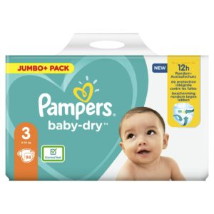PAMPERS JUMBO PACK BABYDRY SIZE 3 (By 94 nappies) (NEW)