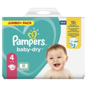 PAMPERS JUMBO PACK BABYDRY SIZE 4 (By 82 nappies) (NEW)