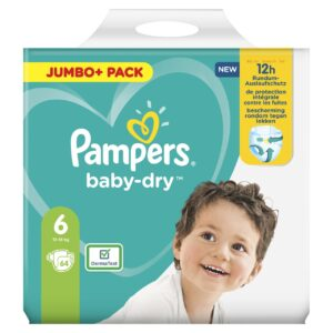 PAMPERS JUMBO PACK BABYDRY SIZE 6 (By 64 nappies) (NEW)