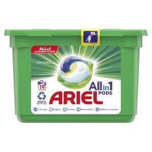 ARIEL PODS REGULAR, 19 WASHES (25.2GR)