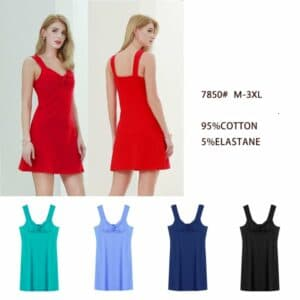 Plain Stretchy Dress With Front Knot