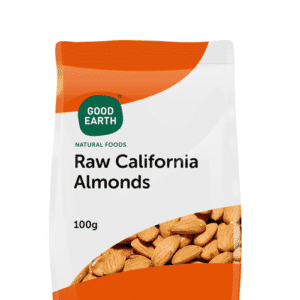 NUTS - GOOD EARTH RAW ALMONDS 100GR