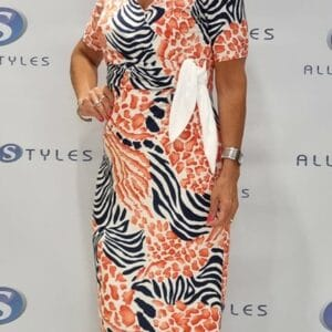 Viscose Wrap Over Style Dress