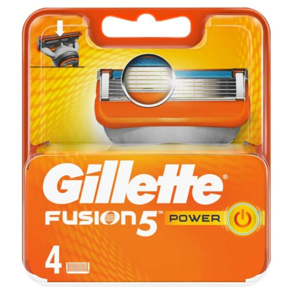 GILLETTE FUSION POWER CARTRIDGES by 4 blades